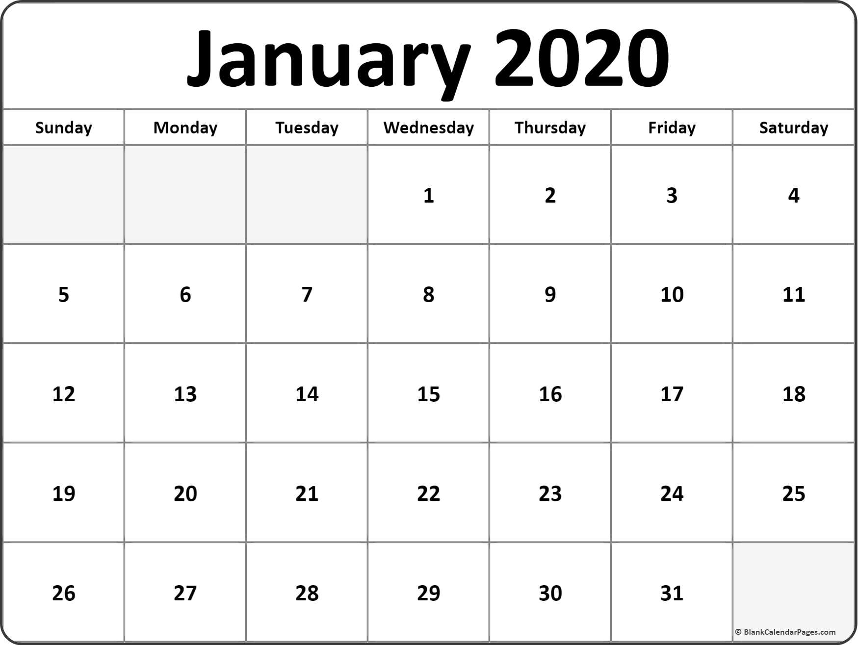 Print Calendar 2020 Monthly - Saves.wpart.co