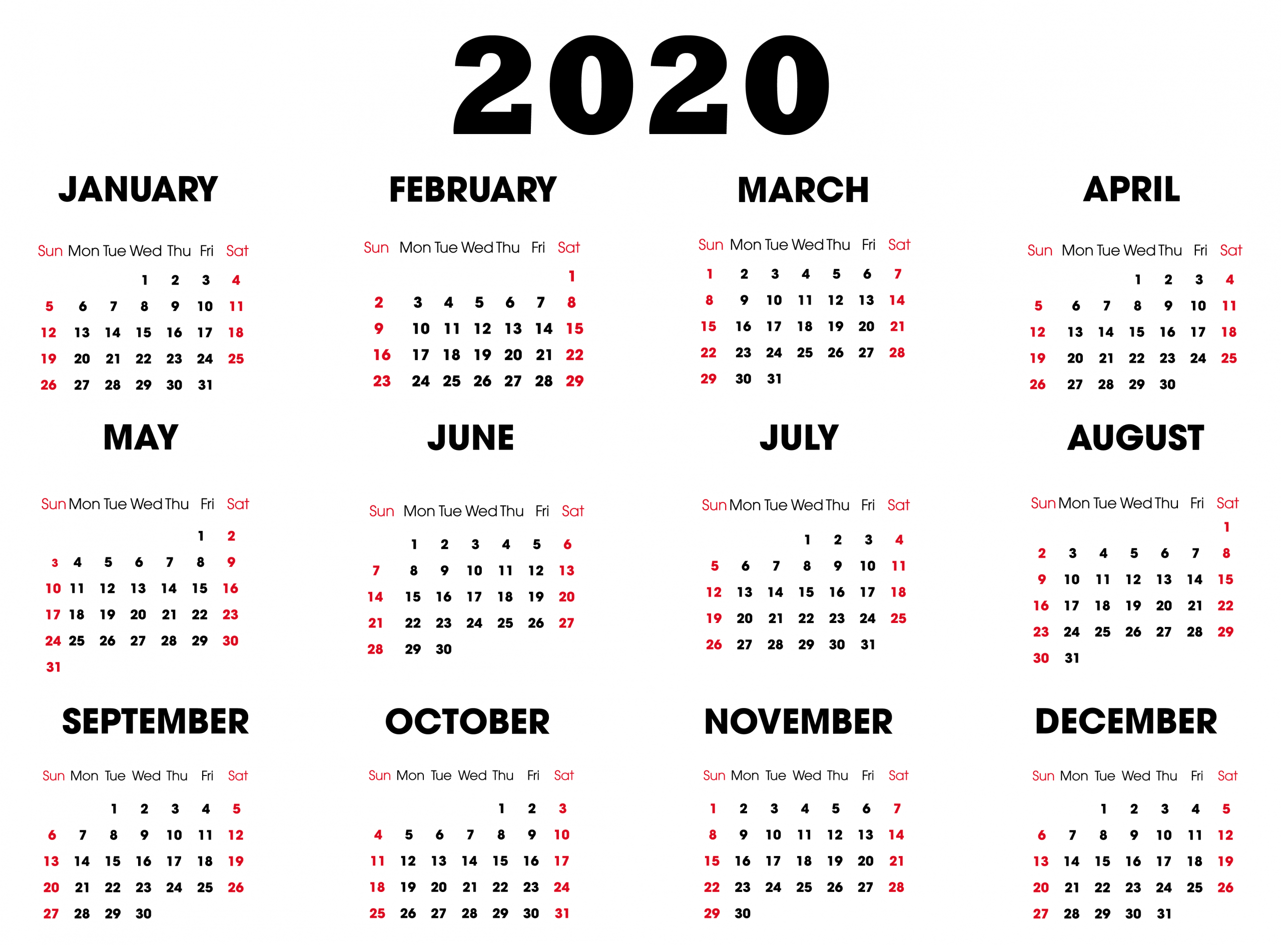 Print Online Calendar 2019