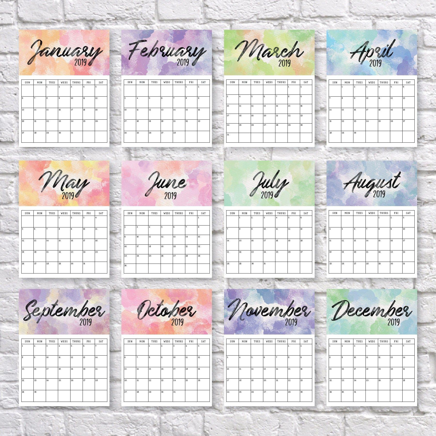 Printable 2020 Calendar | Календарь Для Печати, Календарь И