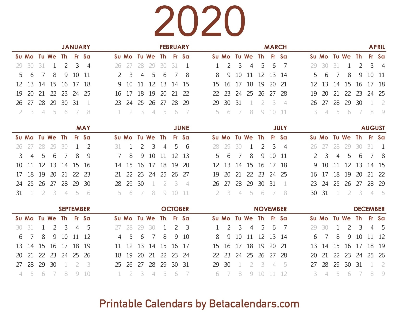 Printable 2020 Lunar Calendar | Monthly Printable Calender