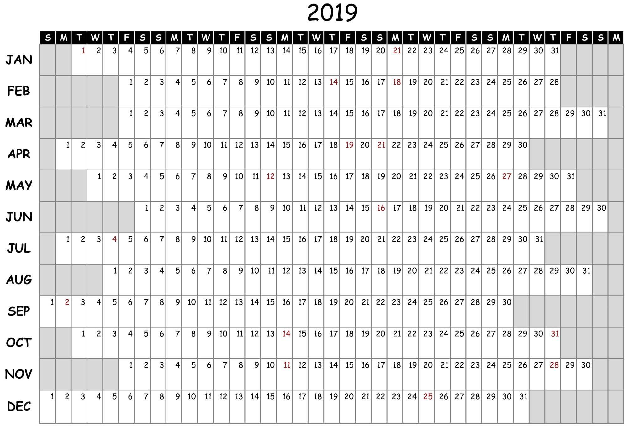 Printable Attendance Calendar - Togo.wpart.co