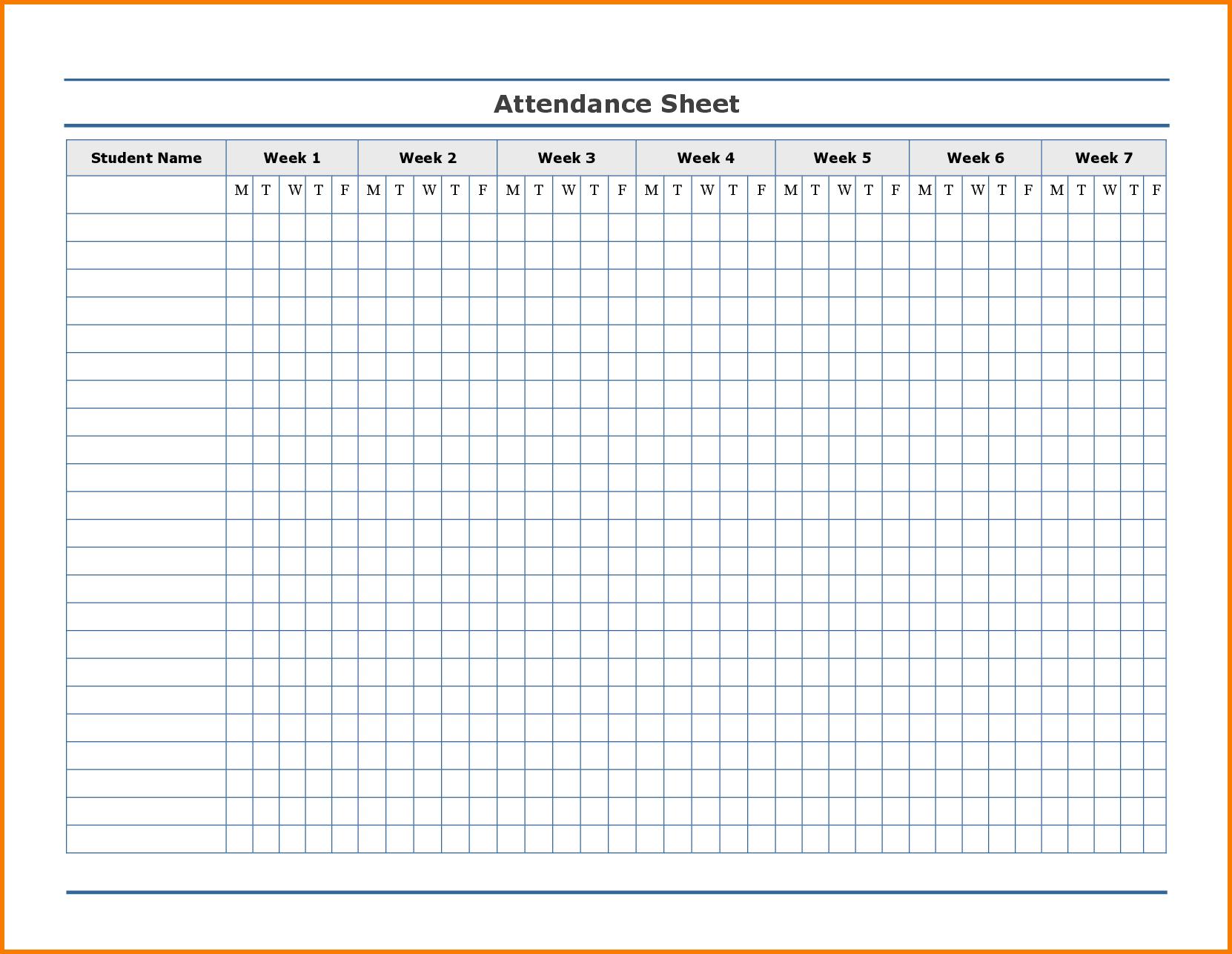Printable Attendance Tracker | Attendance Tracker