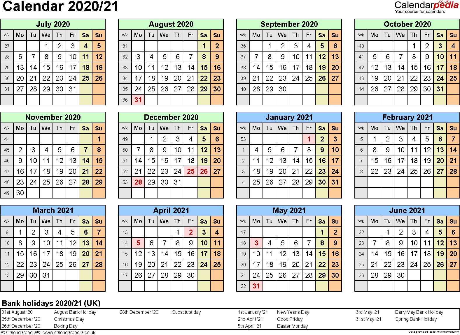 Printable Calendar 2020 16 - Togo.wpart.co