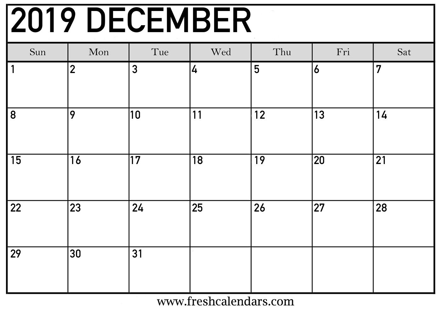 Printable December 2019 Calendar - Fresh Calendars Get | May