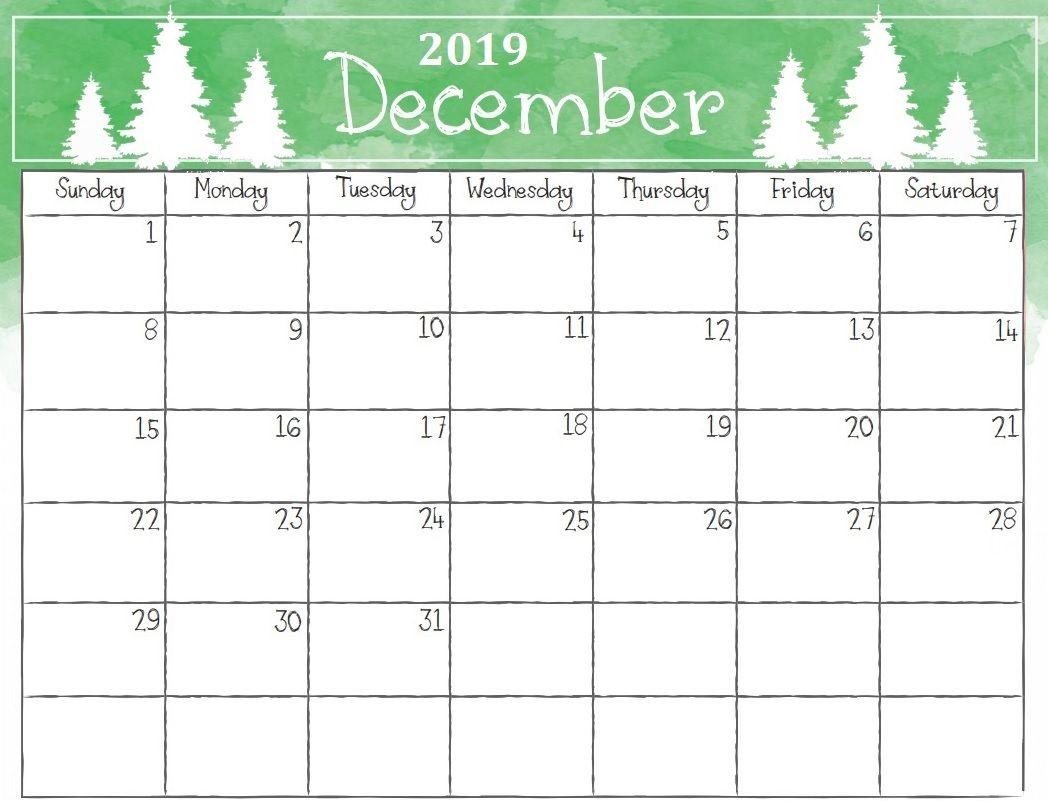 Printable December 2019 Christmas Calendar | Printable