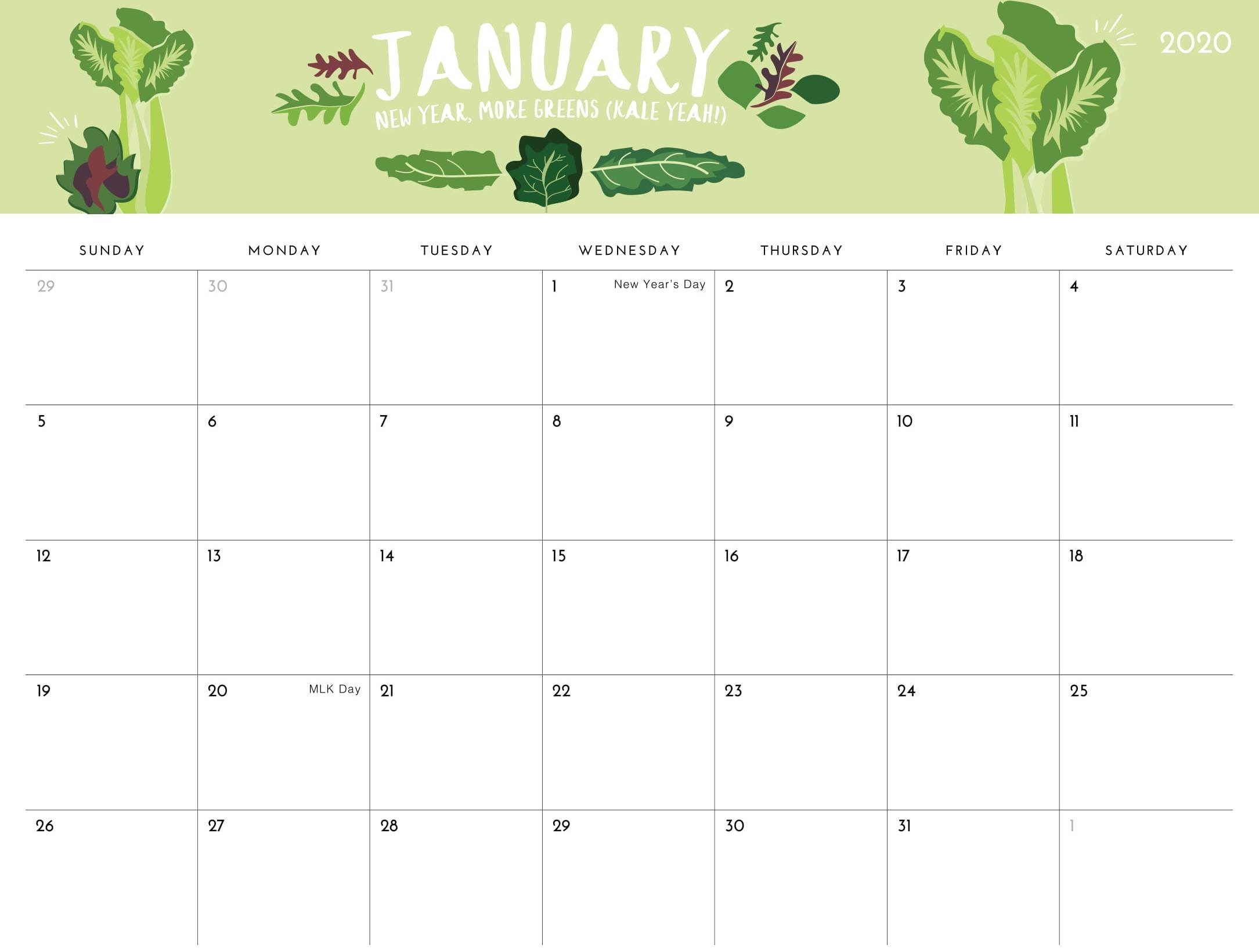 Printable January 2020 Calendar Uk With National Holidays