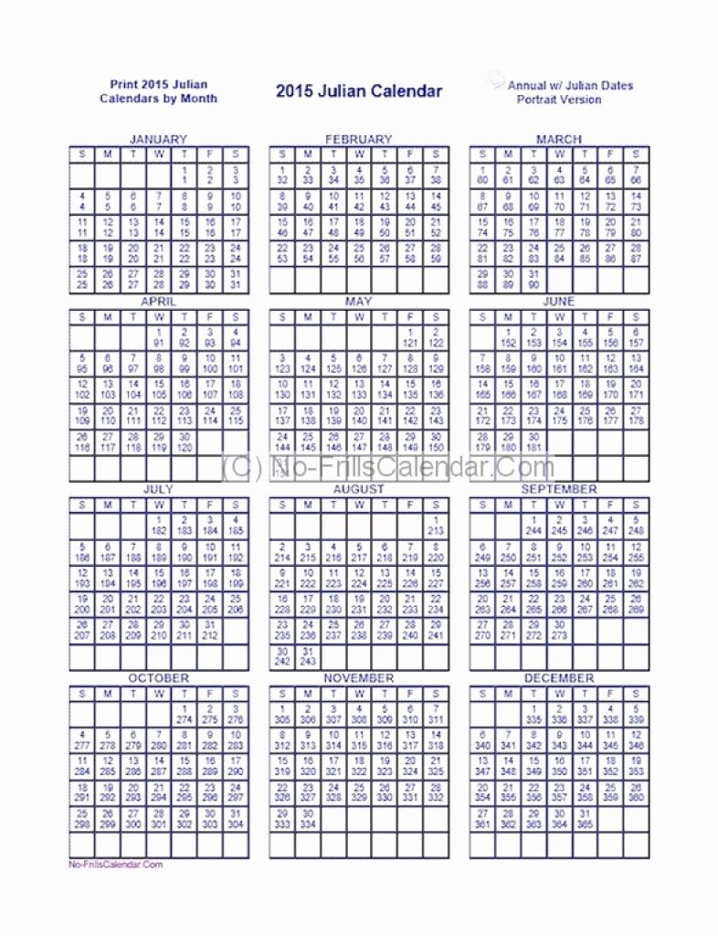 Printable Julian Calendar - Togo.wpart.co