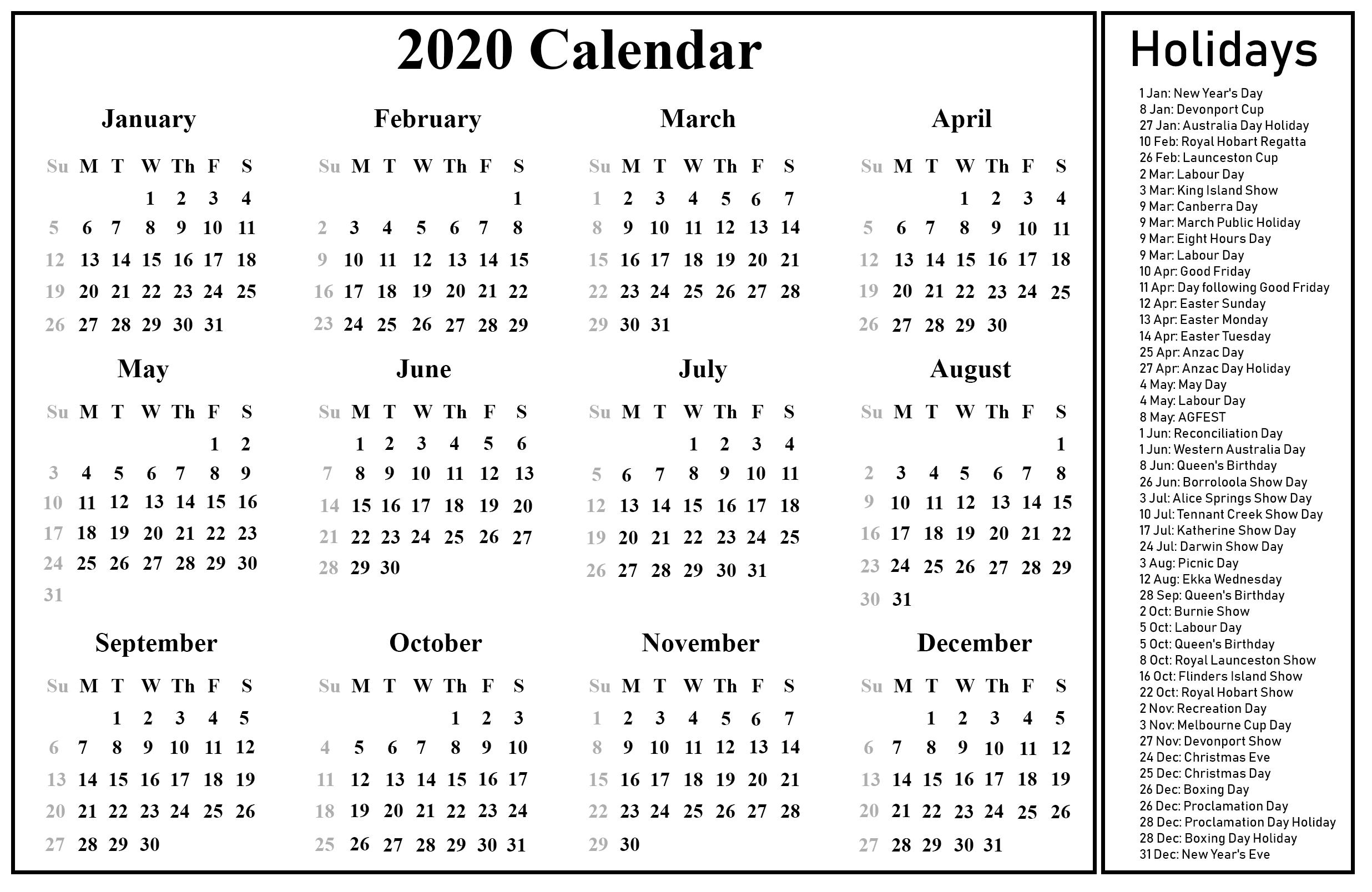 Printable March Calendar Template
