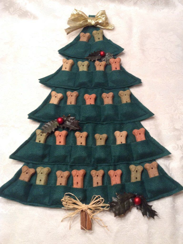 Puppy Treat Tree--Advent Calendar | Christmas Dog, Puppy