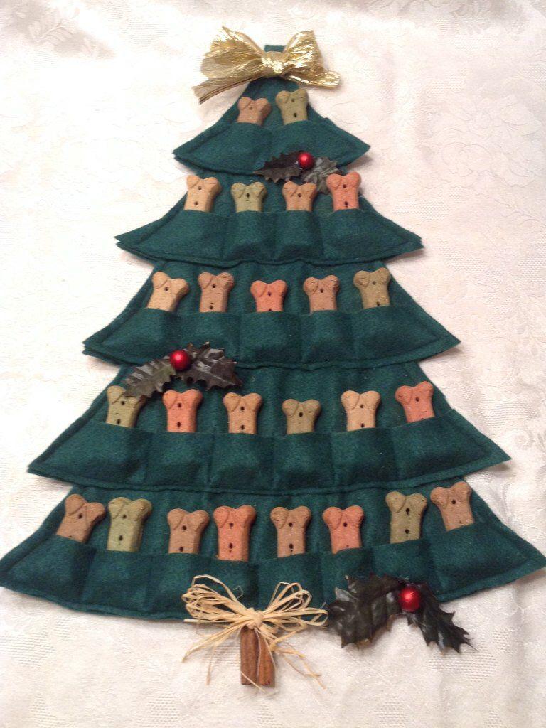 Puppy Treat Tree--Advent Calendar | Christmas Dog, Puppy