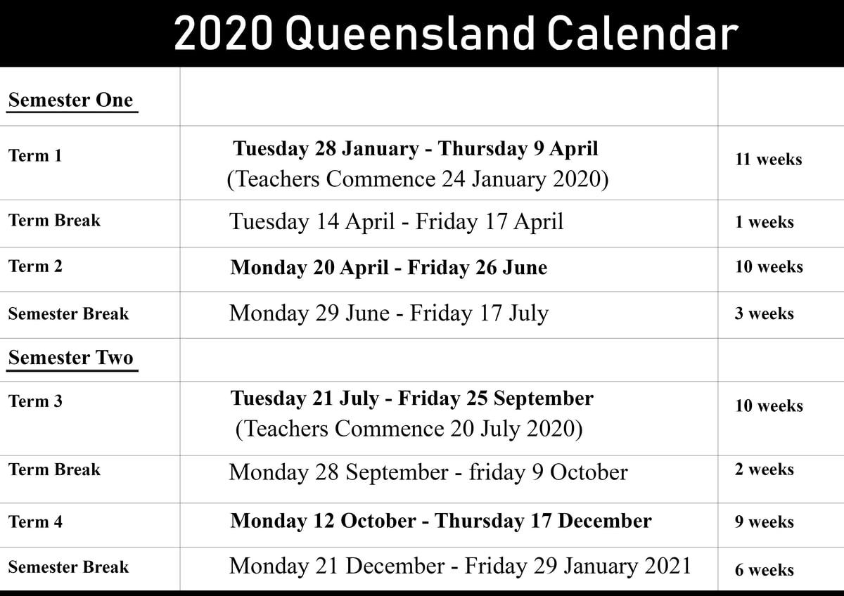 Qld School Holidays 2021 | Qld School Holidays
