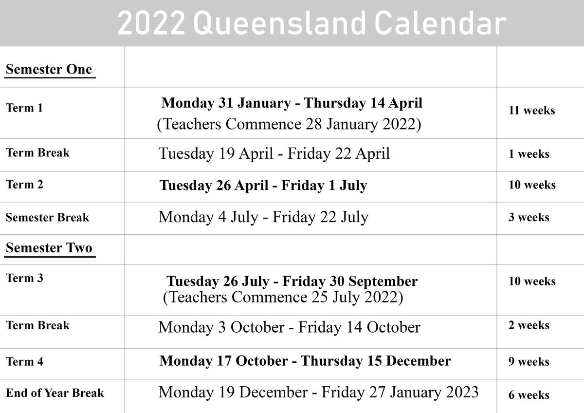Qld School Holidays Calendar 2023 | Qld School Holidays