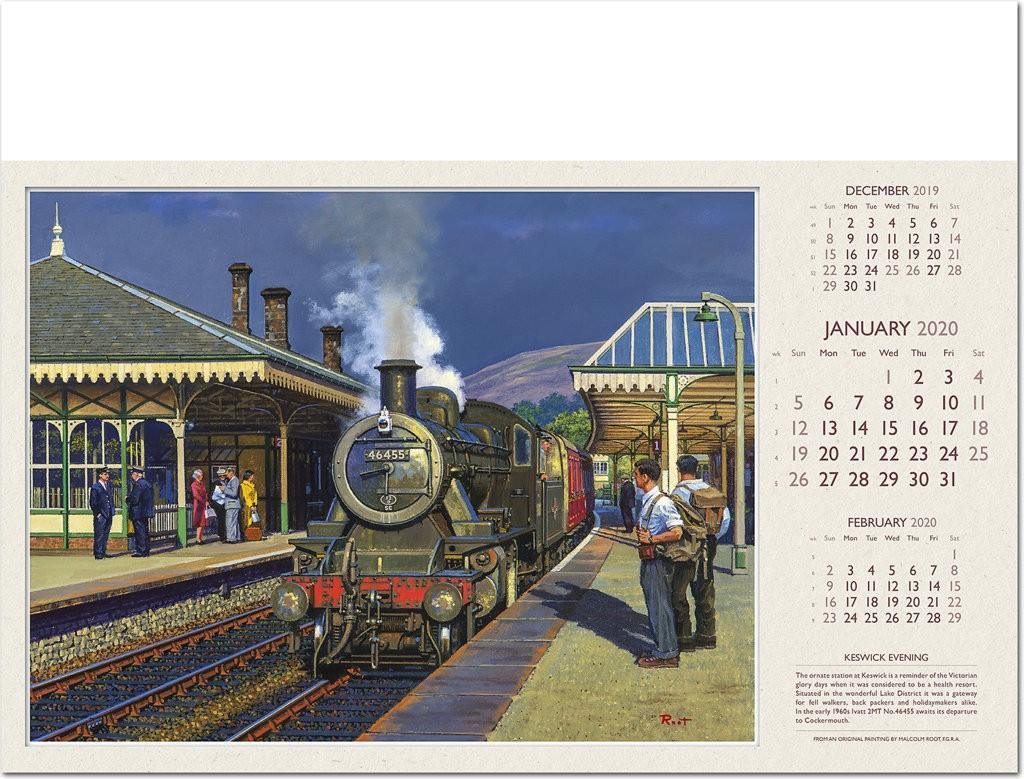 Railway Art Calendar 2020 - Rose Calendars
