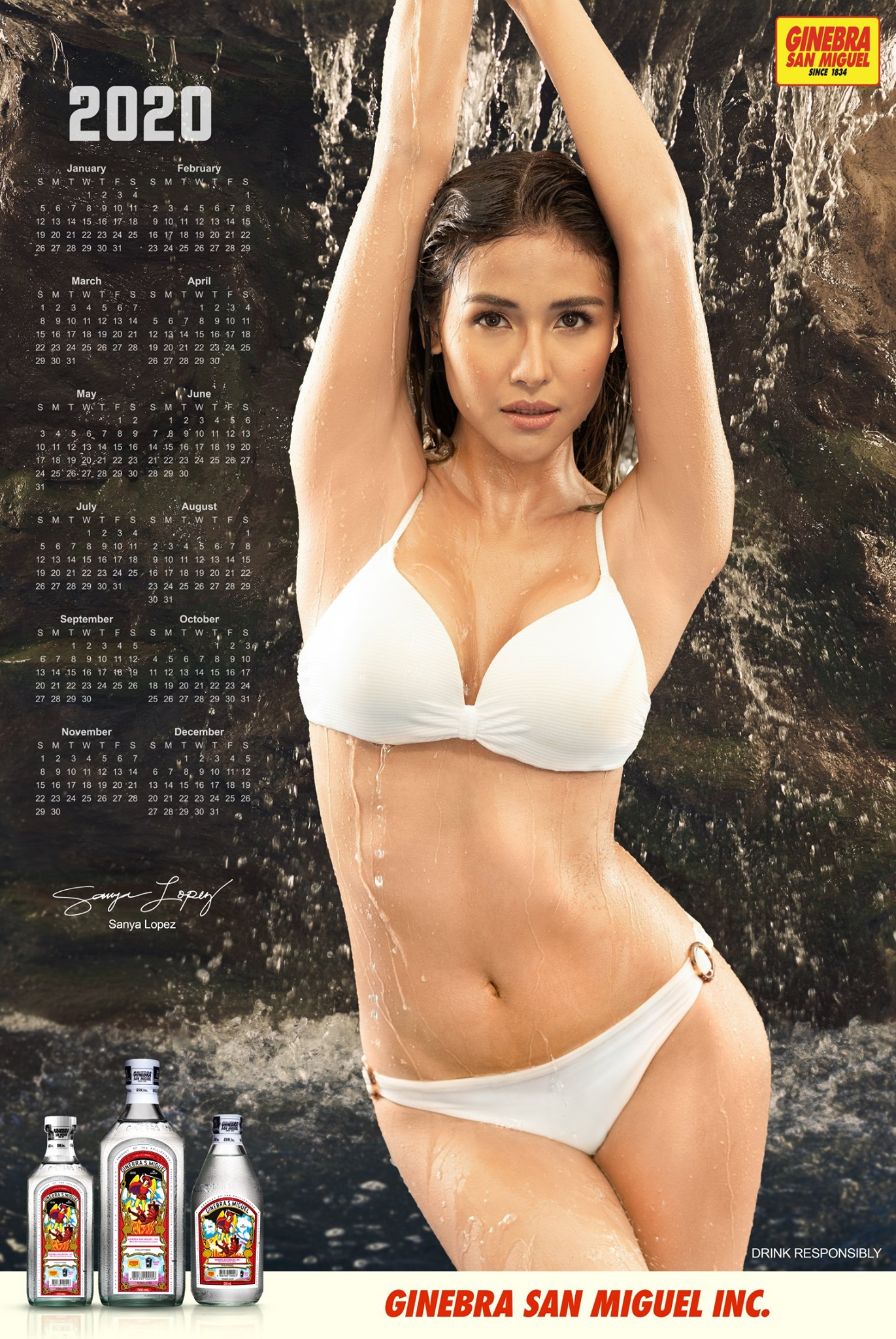 Sanya Lopez Reveals As Ginebra San Miguel 2020 Calendar Girl