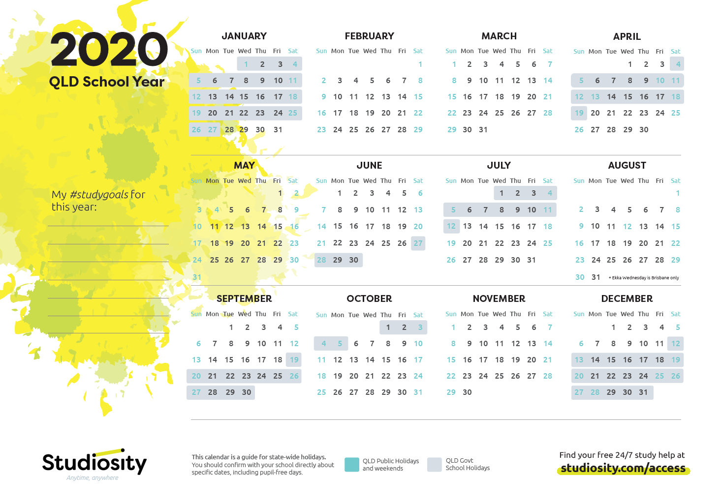 School Terms And Public Holiday Dates For Qld In 2020
