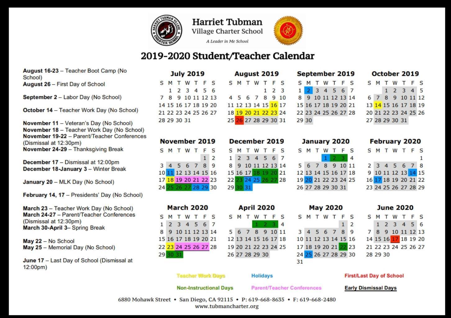 School Year Calendar 2019-20 – School Year Calendar 2019-20