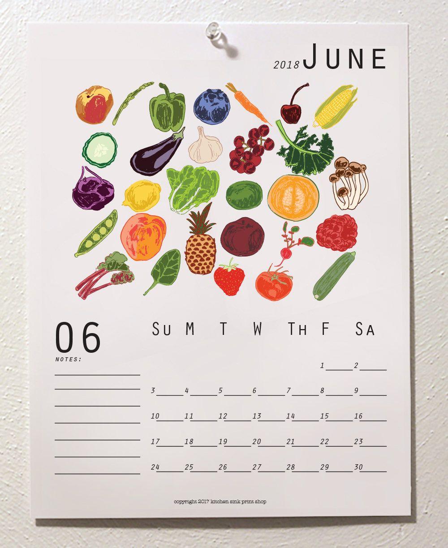 Seasonal 2019 Printable Calendar, Monthly Illustrated