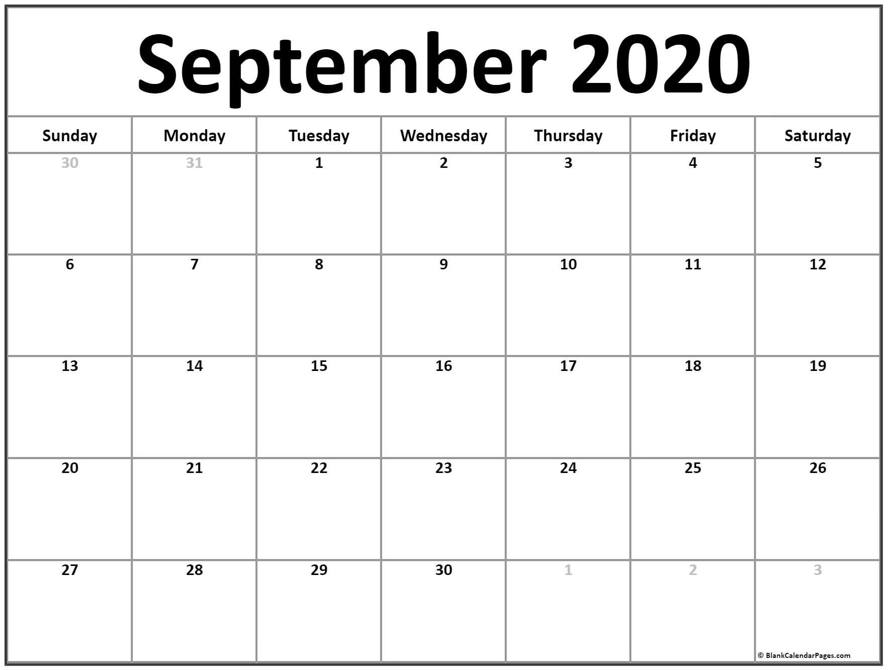 September 2020 Calendar Printable | February Calendar