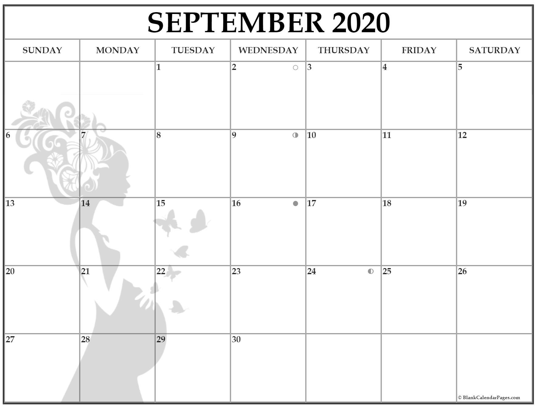 September 2020 Pregnancy Calendar | Fertility Calendar
