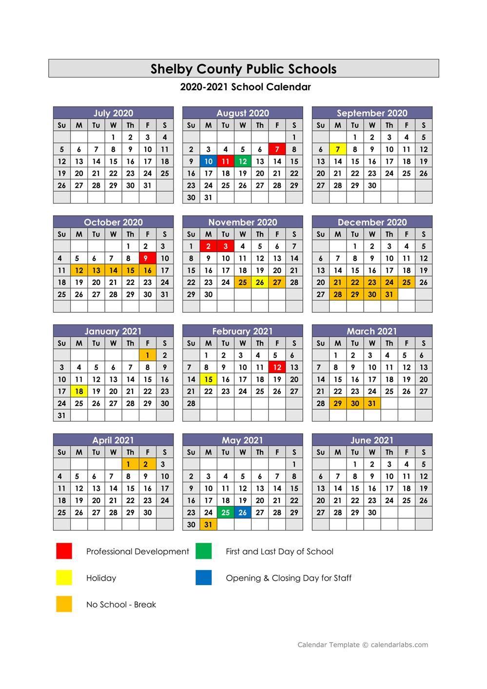 Shelby County Public Schools / Calendar
