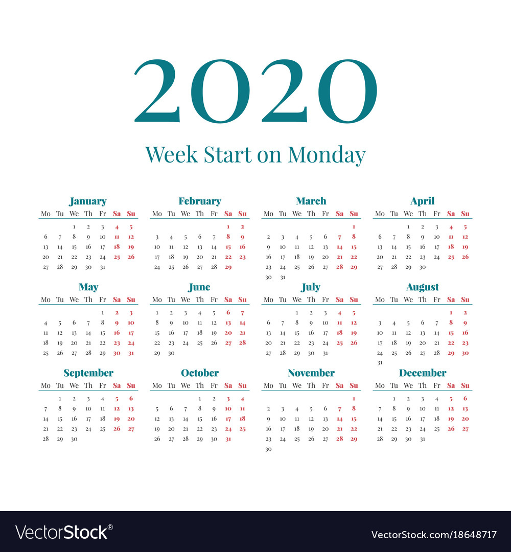 Simple 2020 Calendar - Togo.wpart.co