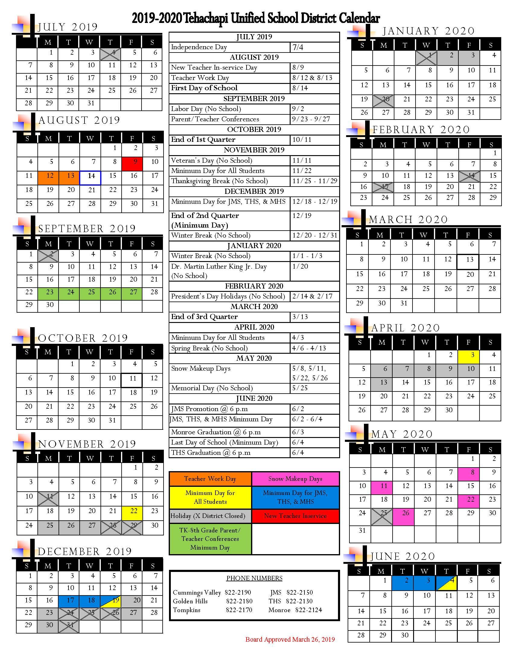 Student Attendance Calendar / Home