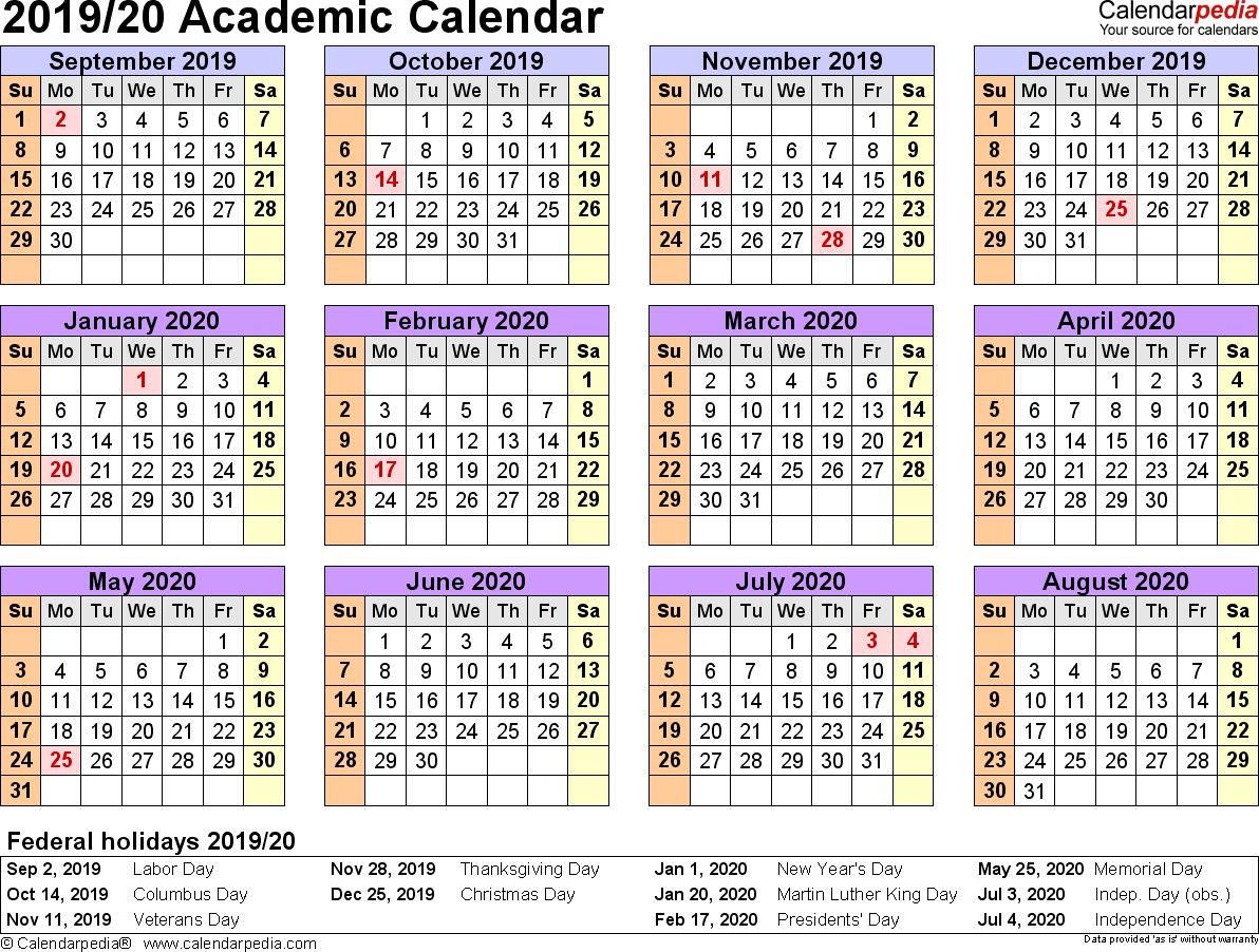 Summer Calendar 2020 Template - Togo.wpart.co