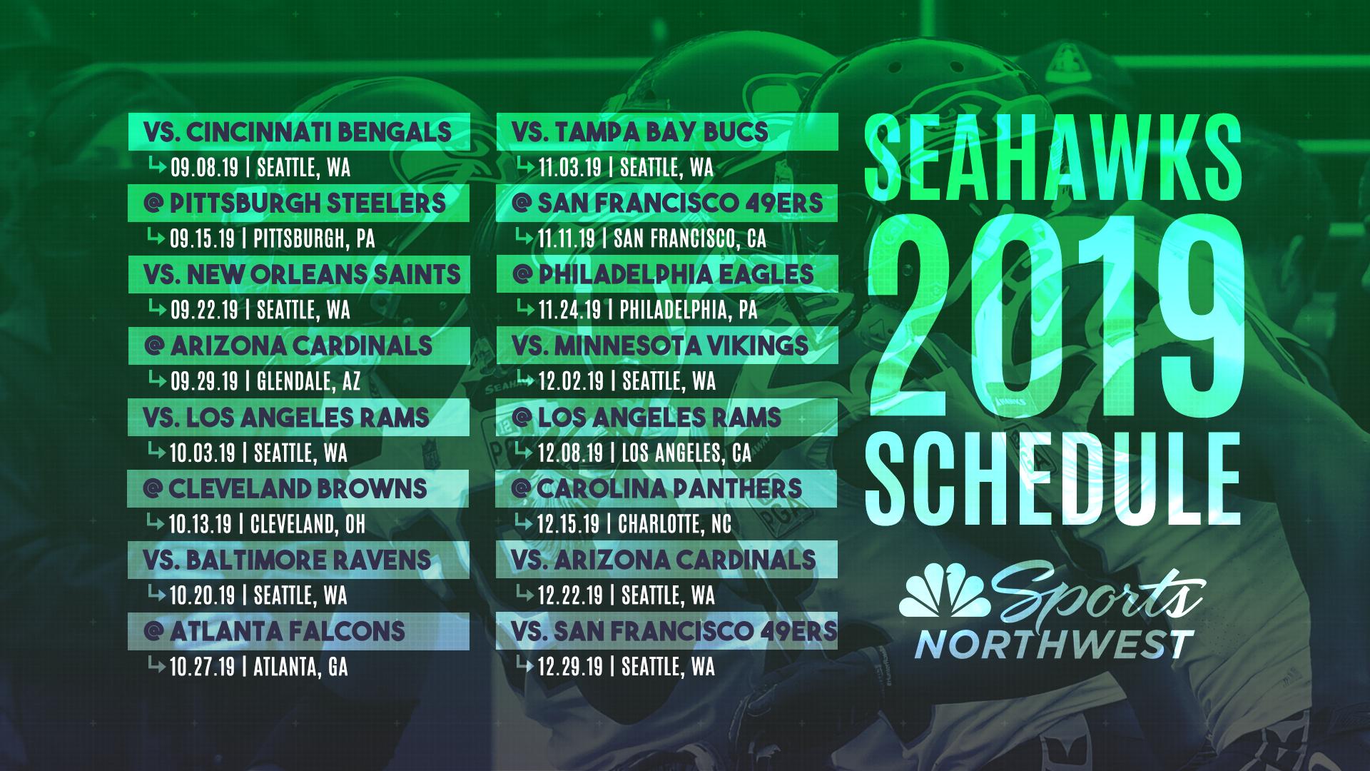 The 2019 Seattle Seahawks Regular Season Schedule Is Here