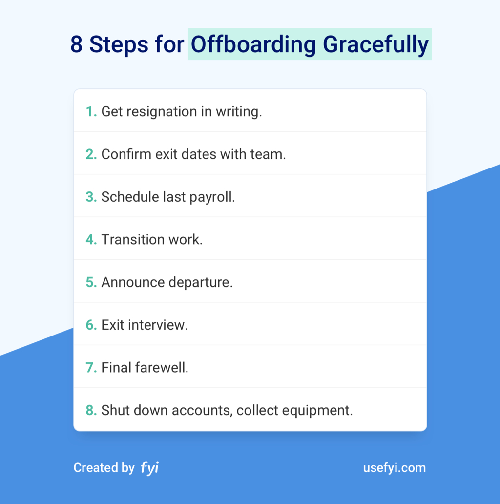 The 8 Step-By-Step Process For Offboarding Employees Gracefully