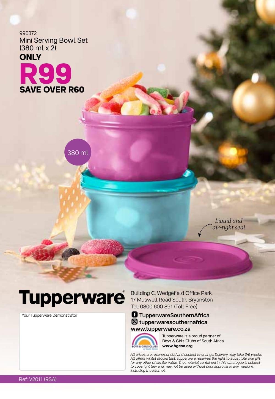Tupperware Specials 4 December, 2019 - 7 January, 2020