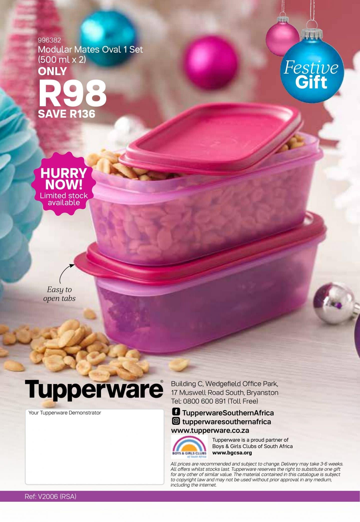 Tupperware Specials 6 November - 3 December, 2019