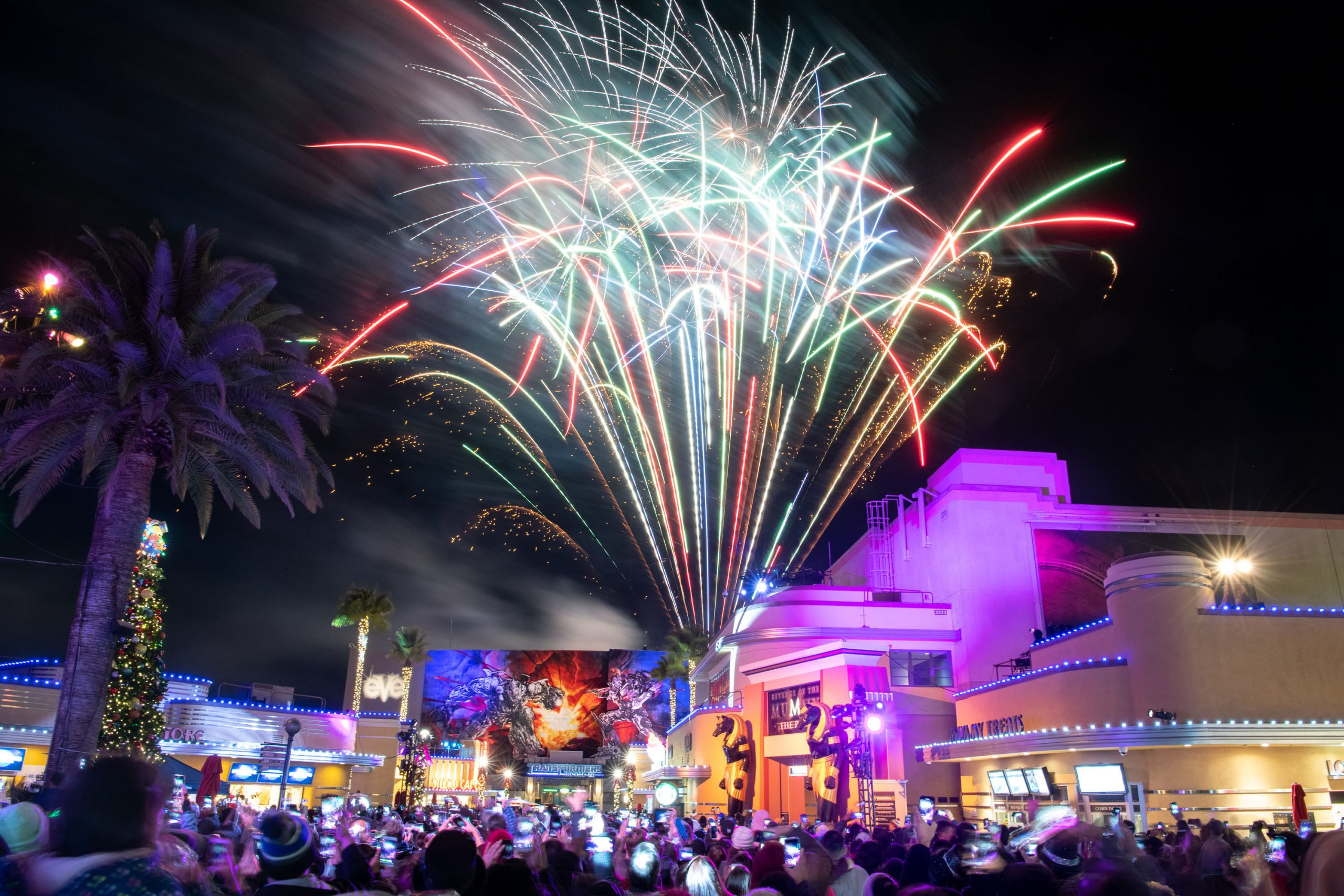 Universal Studios Hollywood Ushers In 2020 With Massive Party