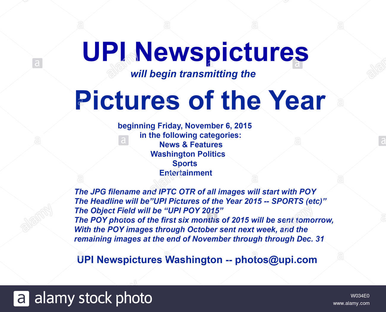 Upi Newspictures Has Transmitted The 2015 Pictures Of The