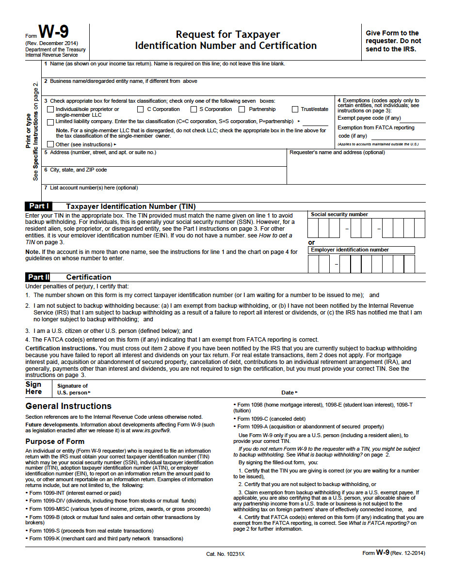 W9 Blank Form 2019 Best Of W 9 Request For Taxpayer