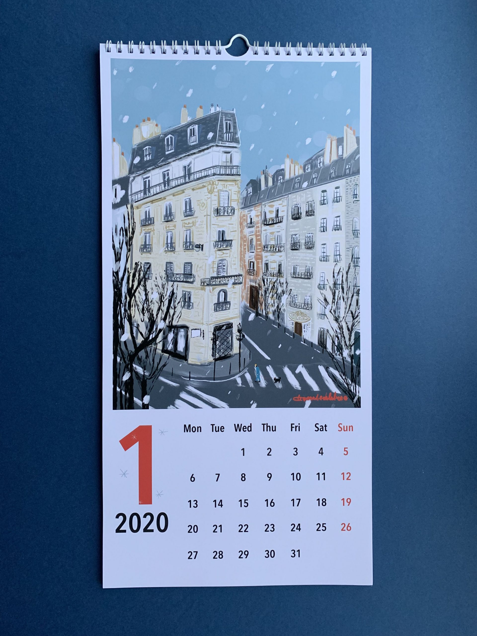 Wall Calendar 2020, Illustrated Art Calendar 2020, Gift 2020