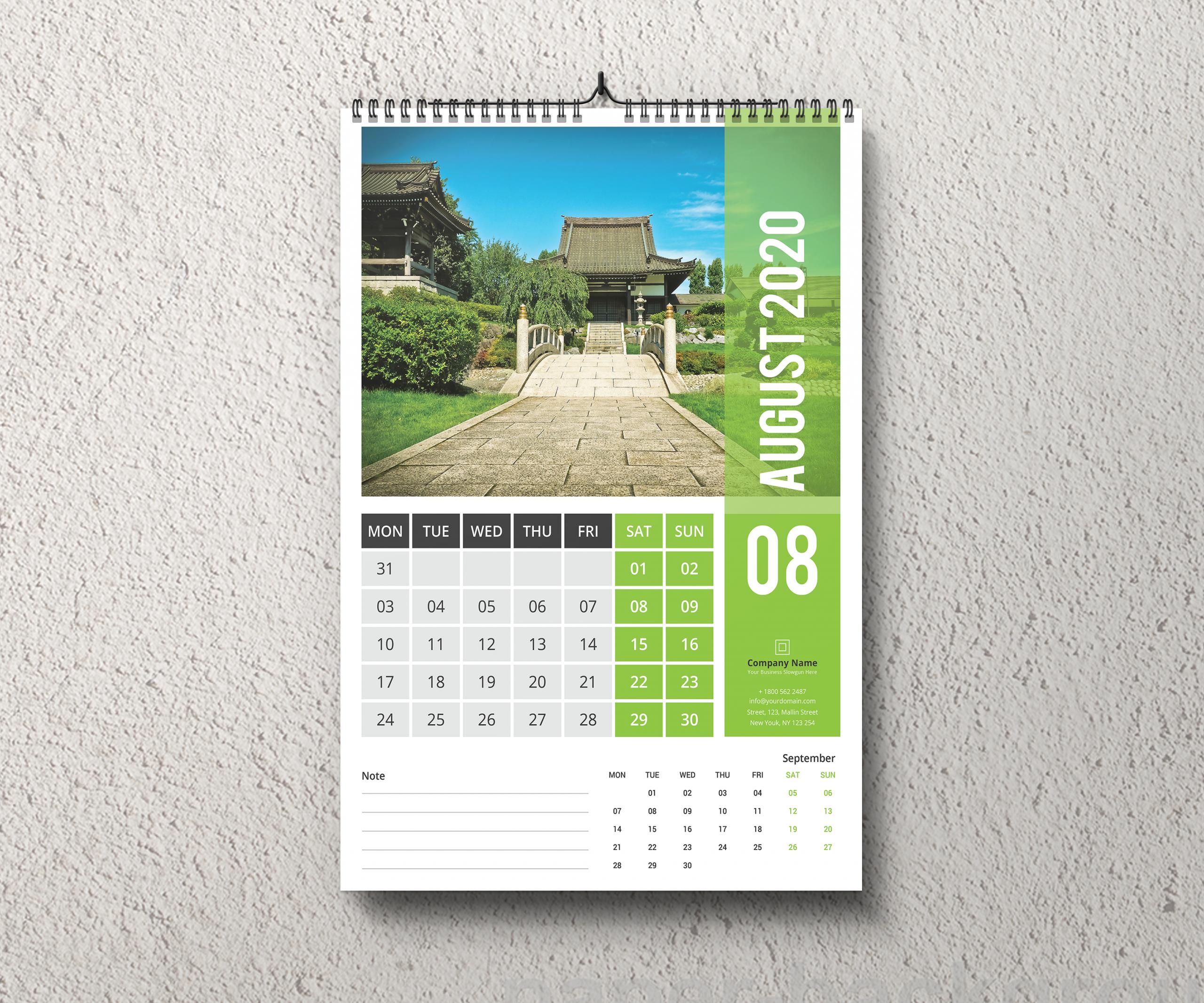 Wall Calendar 2020 #wallcalendar #calendar #calendar2020