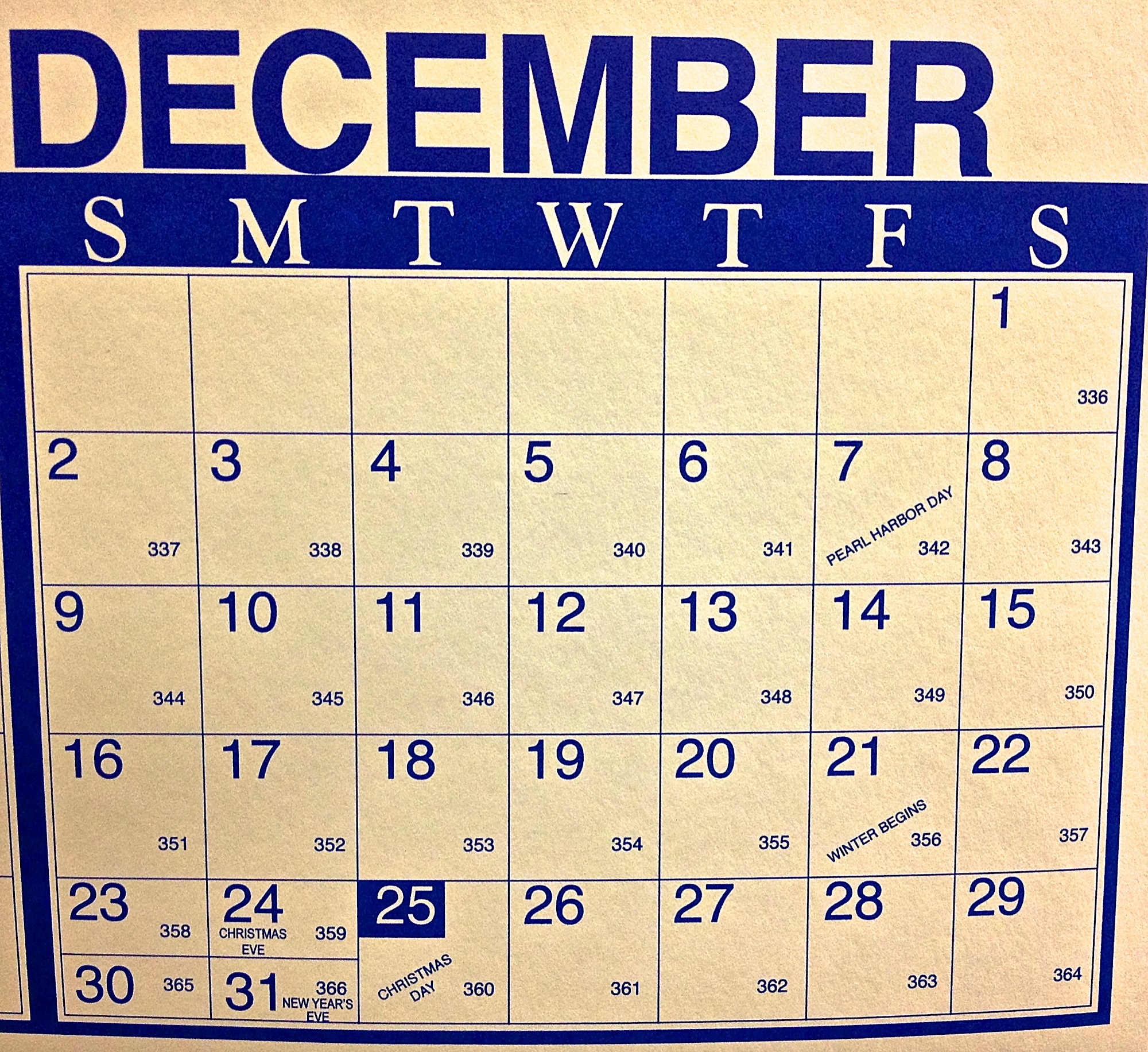 Westside Story – Julian Calendar