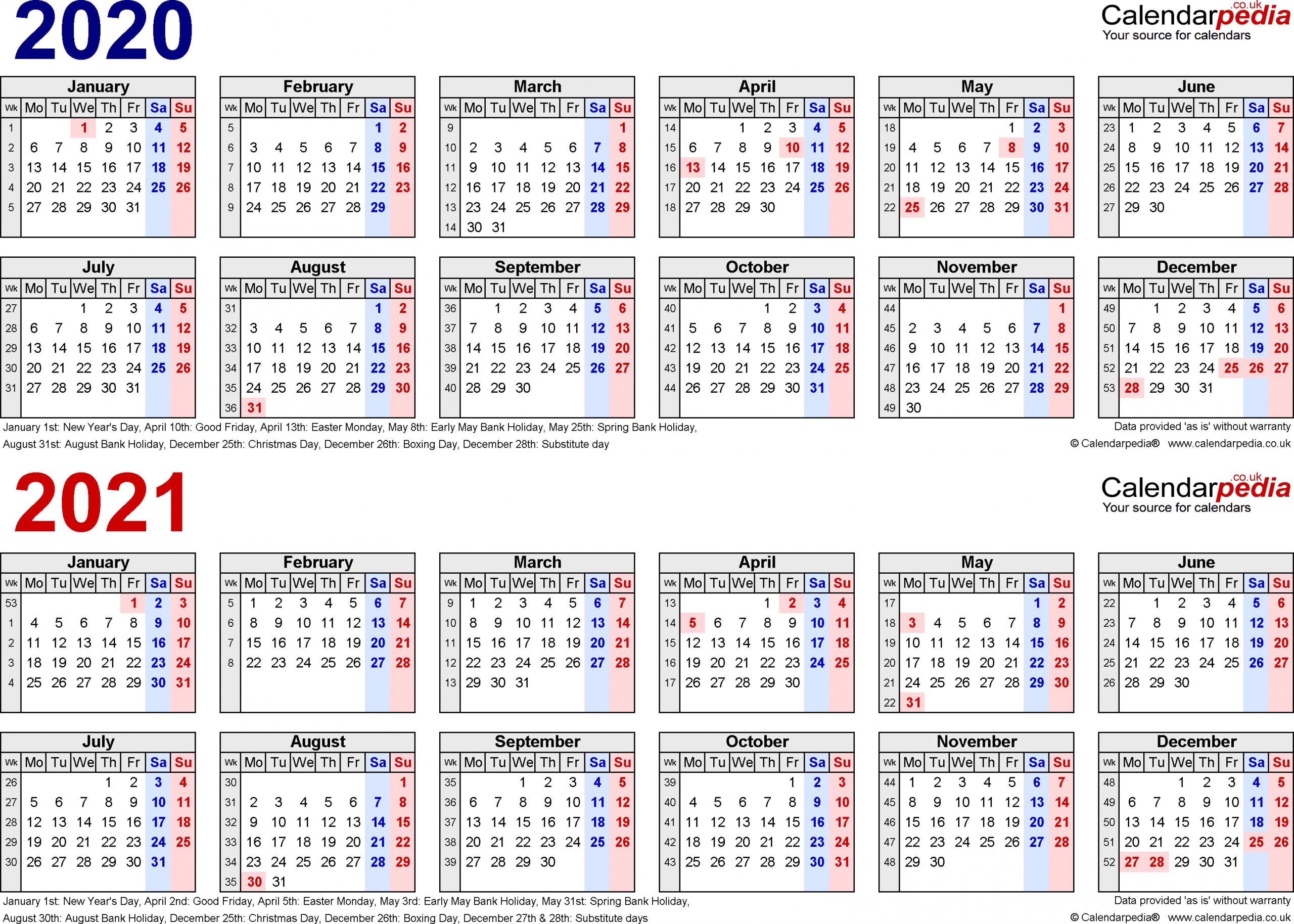 Work Calendars 2020 - Togo.wpart.co