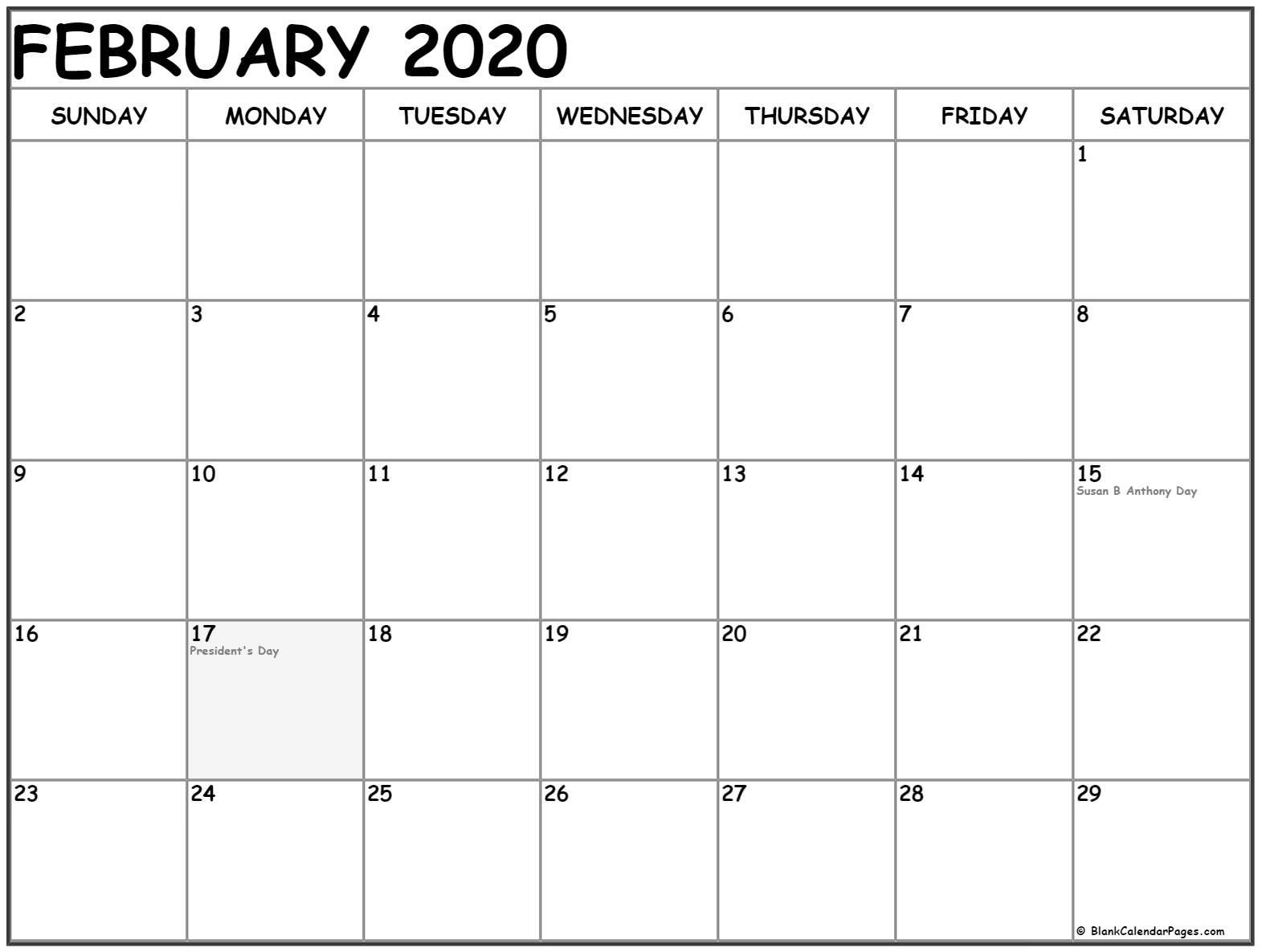 Worldwide February Holidays 2020 Calendar With Festival Dates