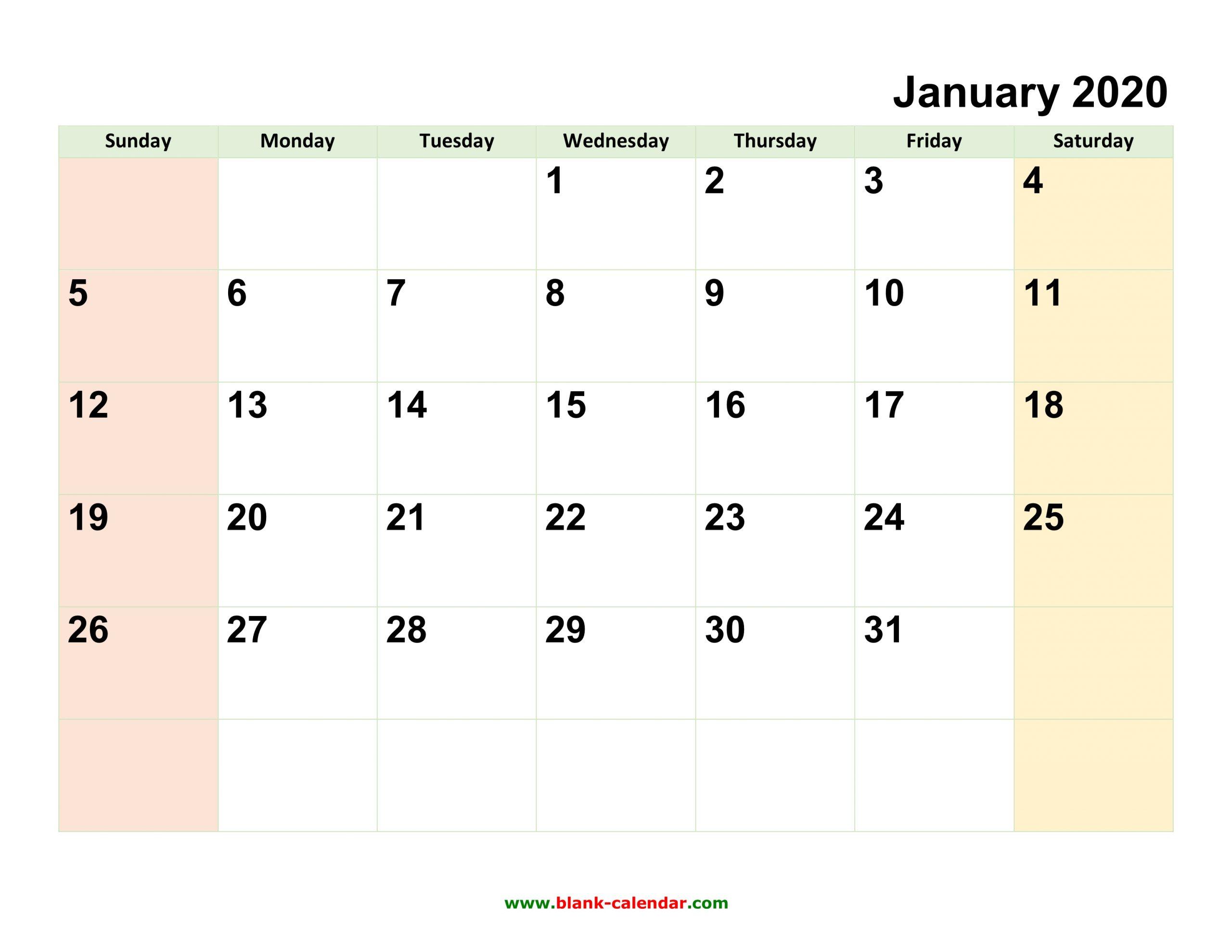 Writable Calendars 2020 - Togo.wpart.co