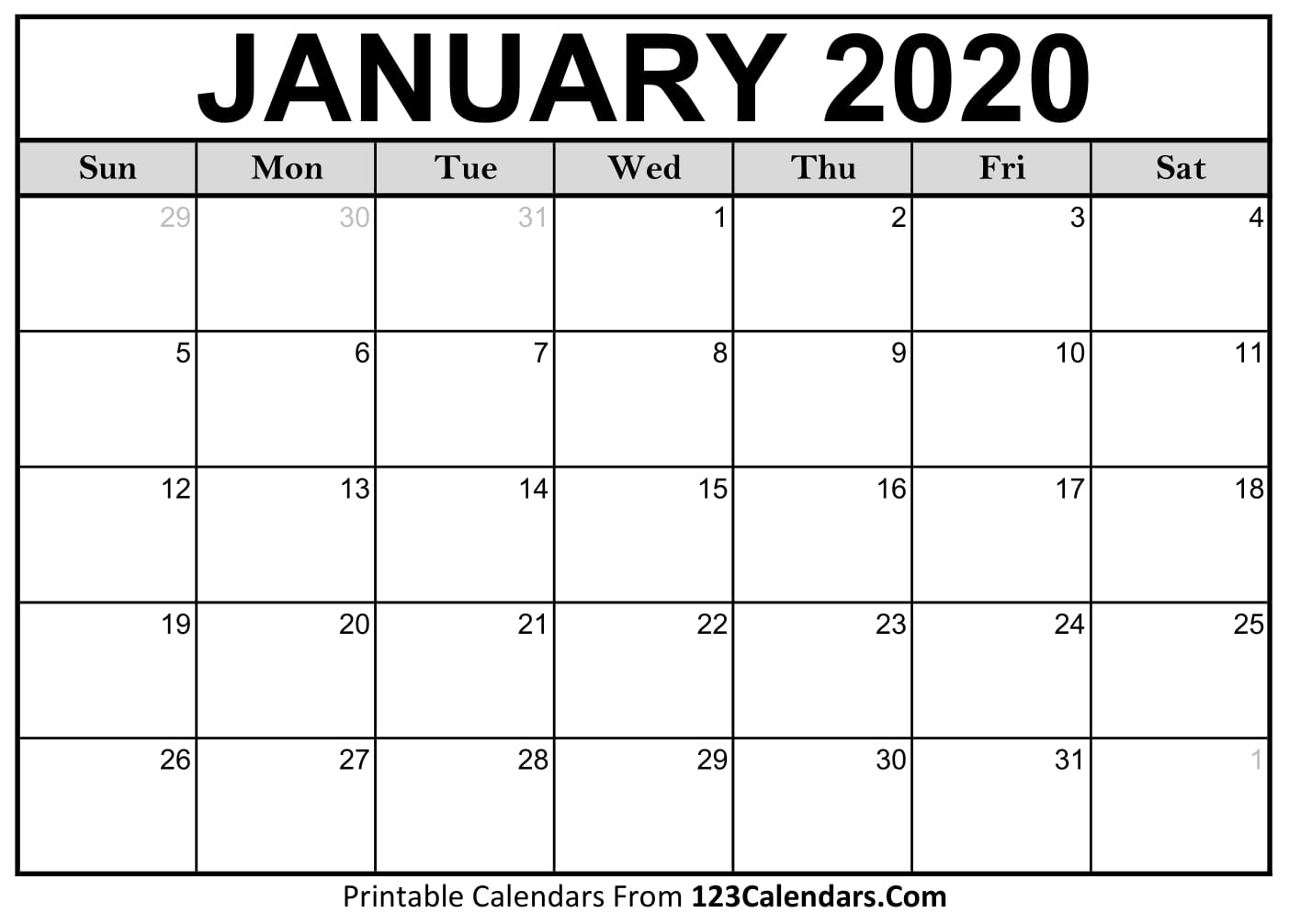 Write In Calendar 2020 - Togo.wpart.co