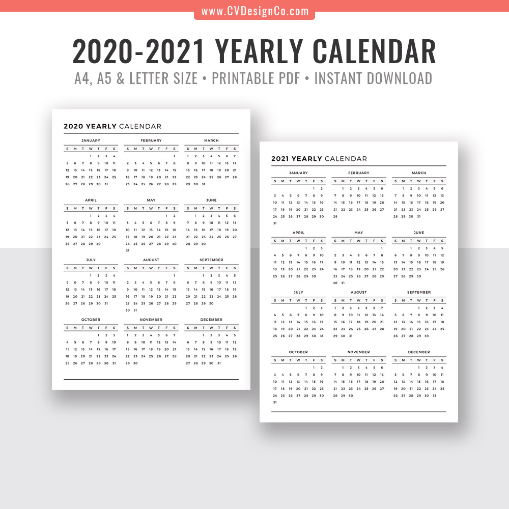 Year At A Glance 2020 - Togo.wpart.co