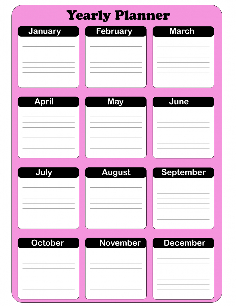 Year Planner Pdf | Best Printable Calendar
