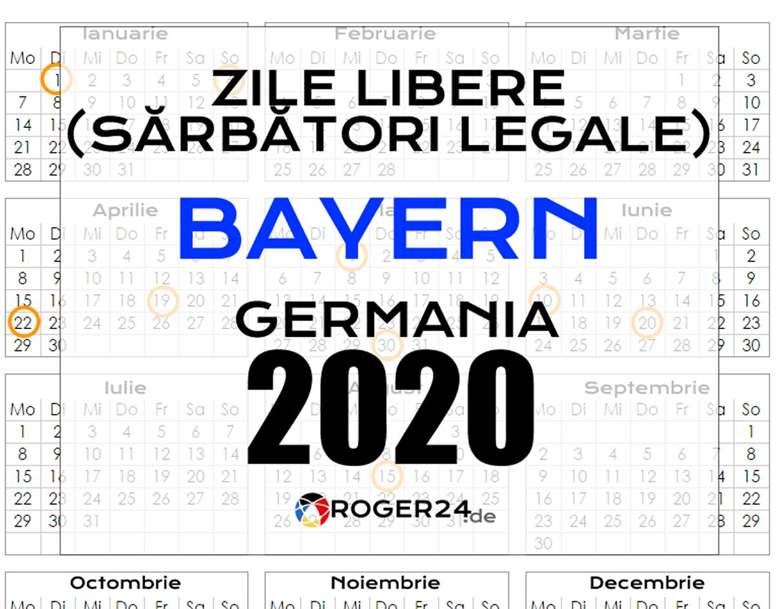 Zile Libere (Sărbători Legale) În Bayern (Bavaria), Gemania