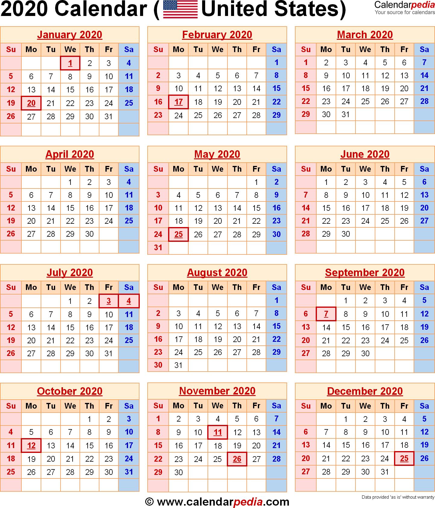 2020 Calendar Holidays Usa | Get Your Calendar Example