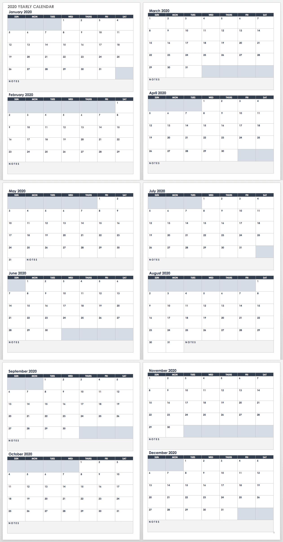 2020 Employee Attendance Calendar Free | Calendar For Planning