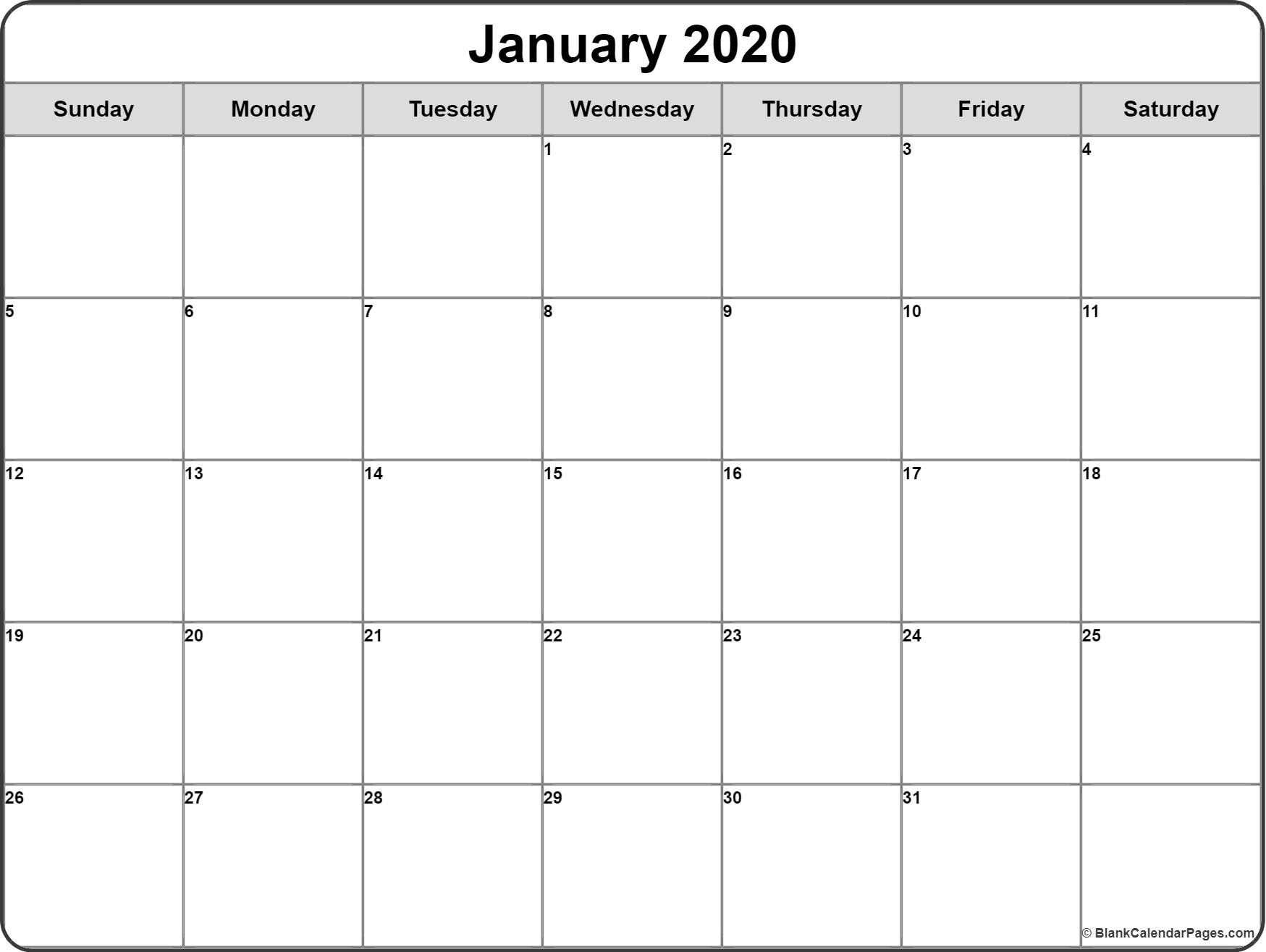 2020 Monthly Calendar Printable | Monthly Calendar Printable
