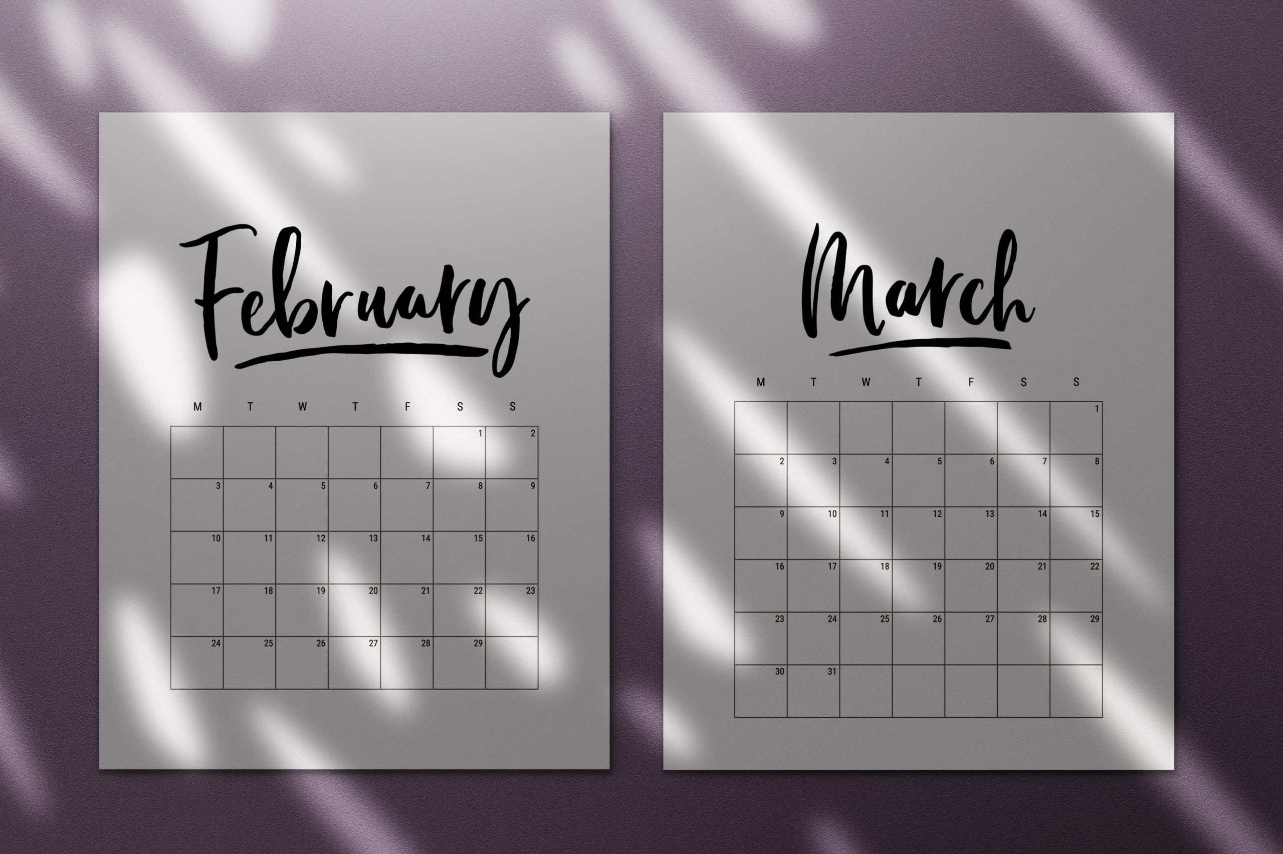 45 Best Printable Calendars 2020 (Both Free And Premium)