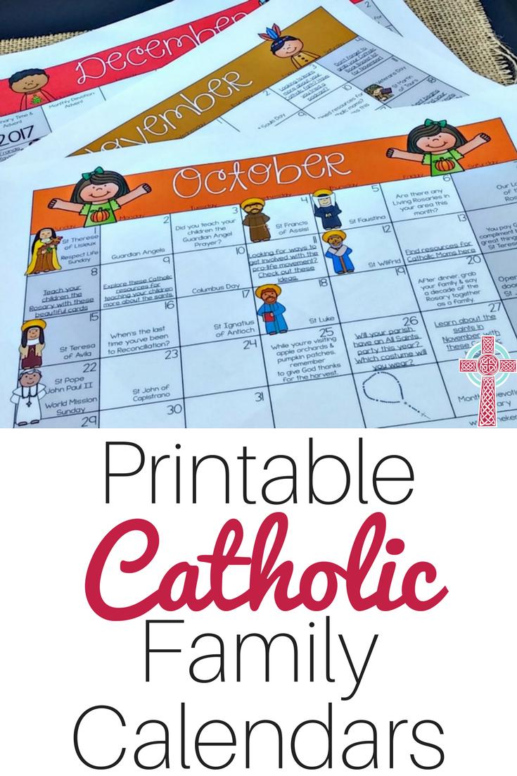 A Printable Catholic Family Calendar To Make Your Life Easier