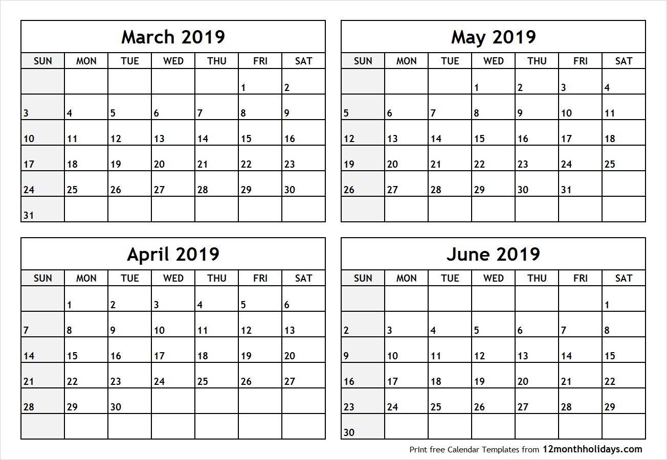 April May June 2020 Calendar In Pdf Word Excel Printable